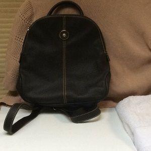 DOONEY & BOURKE small leather backpack, dk brn